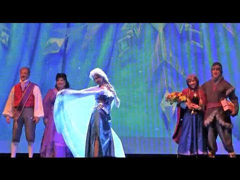 New Frozen Stage Show Projection Effects In Let It Go