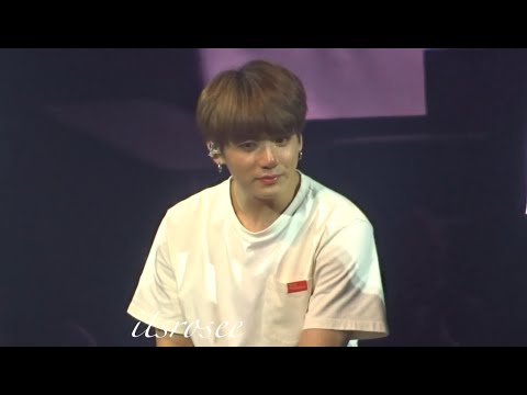 181009 Ending speech / ment (Jungkook crying) BTS Love yourself tour In London FANCAM 직갬