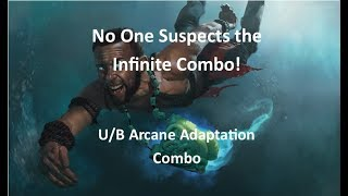 No One Suspects the Infinite Combo! [U/B Arcane Adaptation Combo]-M19 Standard