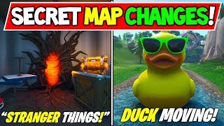 "'NEW' FORTNITE SECRET MAP CHANGES ""The Upside Down!"" - ""DUCK MOVING"" Saison 9 Storyline"
