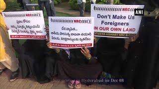 Hyderabad: Locals protest against NRC, Citizenship Amendment Bill