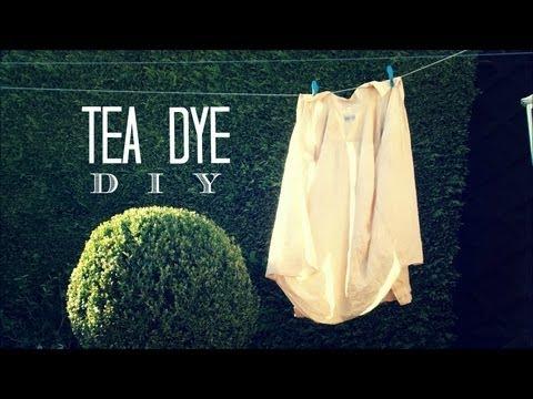 HOW TO: DIY TEA DYE!