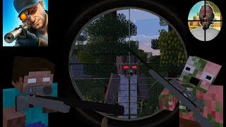 Monster School : Sniper 3D Gun Shooter vs Horror game Granny - Minecraft Animation