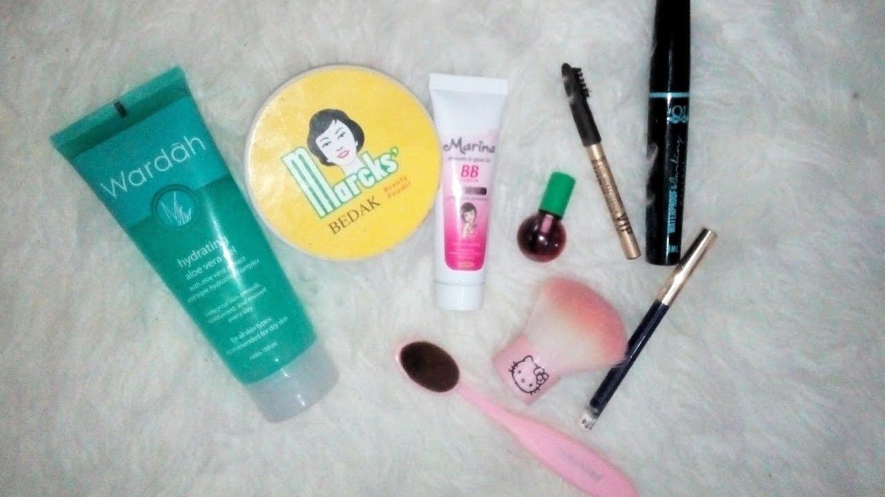 Makeup sehari hari buat muka berjerawat & berminyak - YouTube