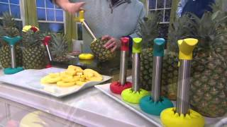 Stainless Steel Pineapple Slicer with Silicone Cover on QVC