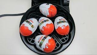 Kinder Surprise Eggs vs Waffle Iron