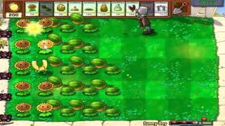Plants Vs. Zombies - Sunny Day (Hidden Mini-Game)