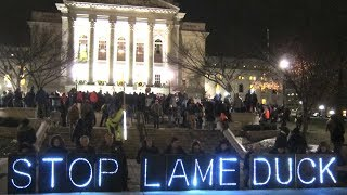 """A Lame-Duck """"Legislative Coup"""": Wisconsin GOP Stages Last-Minute Power Grab Before Dems Take Office"""