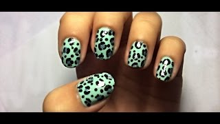 Cute and Easy Mint Leopard Print Design for Beginners