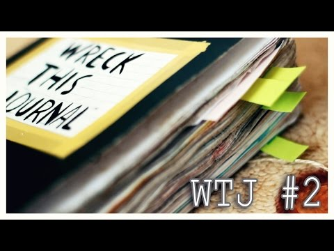 Оформляем wreck this journal #2 // Новые развороты WTJ