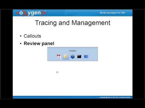 Reviewing Support in oXygen Webinar