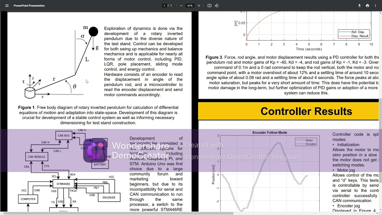 Preview image for Development of Furuta Inverted Pendulum Test Rig for Testing of Motor Dynamics and Capabilities video