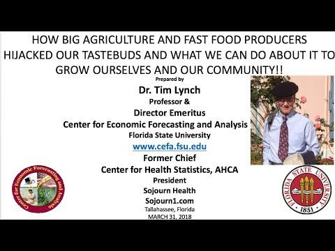 TIM LYNCH -Workshop Part 1 of 2 - How Big Food Producers and Big Ag Hijacked Your Taste Buds