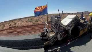Paving US 89T (Navajo Route 20)