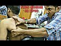 Indian traditional Head and upper body massage with SWAG   Hair cracking   ASMR
