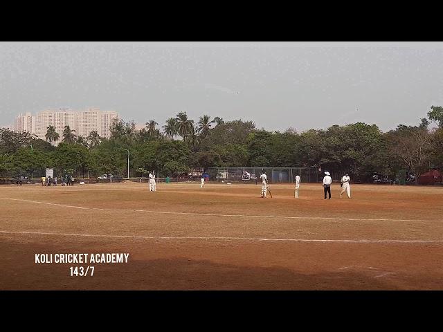 Under 21 Age Group Match Highlights of Koli cricket academy VS Mumbai sporting union |