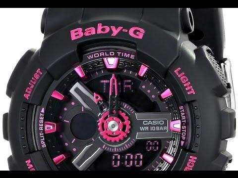 Casio Women S Ba 111 1acr Baby G Analog Digital Display Quartz Black Watch