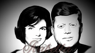 "Sketching John Fitzgerald ""Jack"" and Jacqueline Lee ""Jackie"" Kennedy Onassis on a SmartPhone"