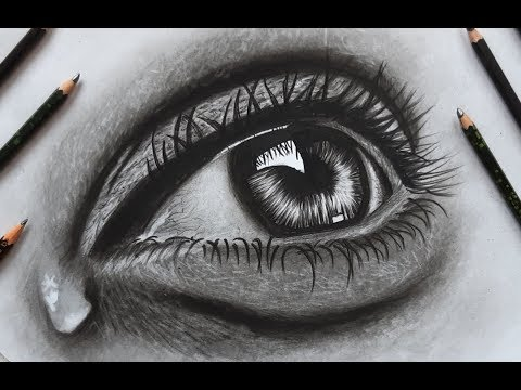 Realistic Eye Drawing 🎨