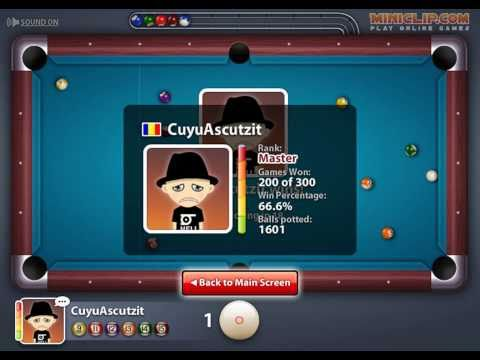 Miniclip 8 ball Pool multiplayer - My 300th game - YouTube
