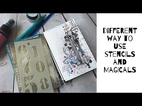 Art journal on watercolor paper - guest designer project for Splashy Mix Challenges