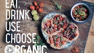 Organic Mini Turkish Flatbreads with Tomato Salad, Anna Jones Organic September Recipe