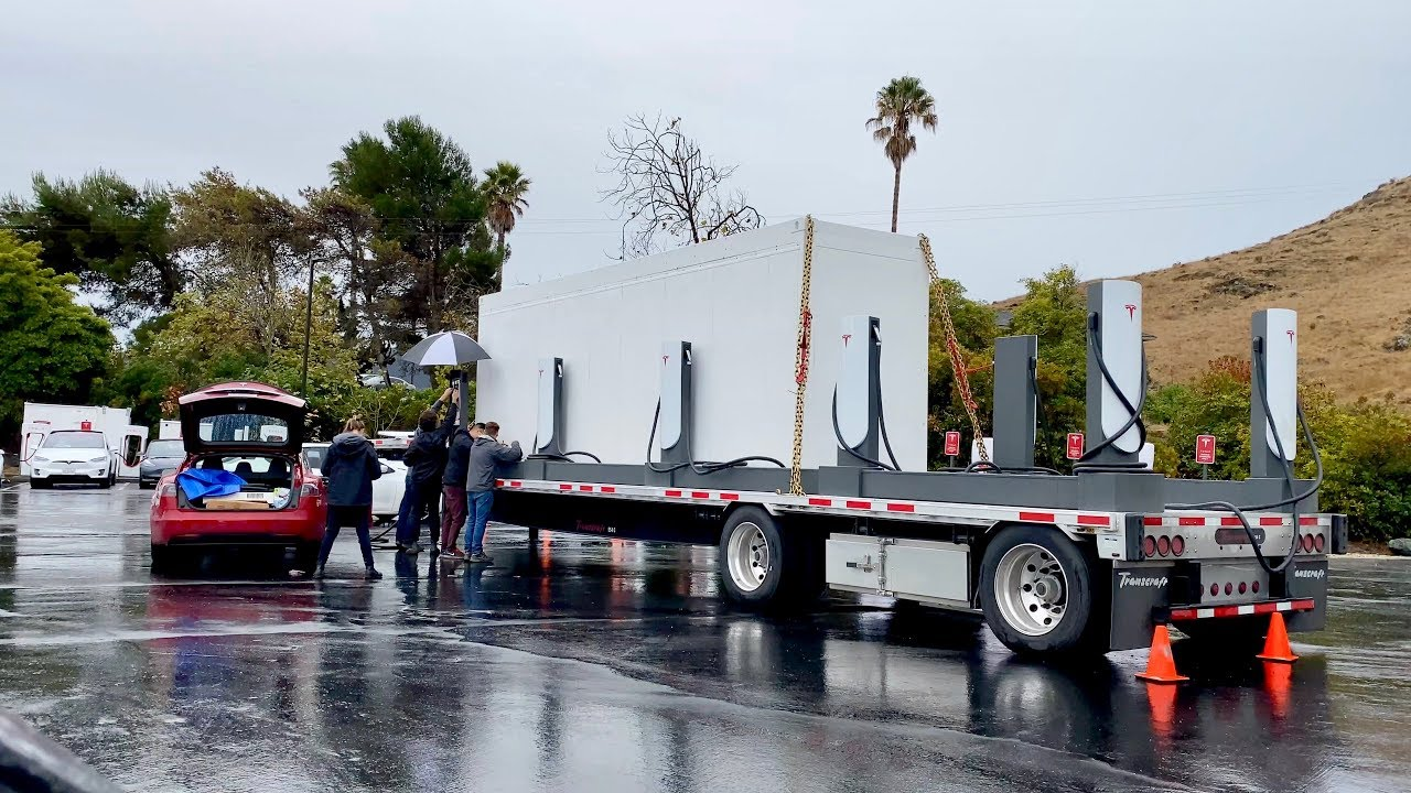 Tesla Megapack Mobile Charging Station returns to SLO ...