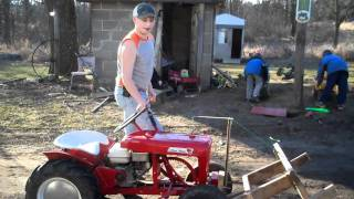 12 Year Old's Wooden Reconstructed Snow Plow For A 1960 Wheel Horse Garden Tractor