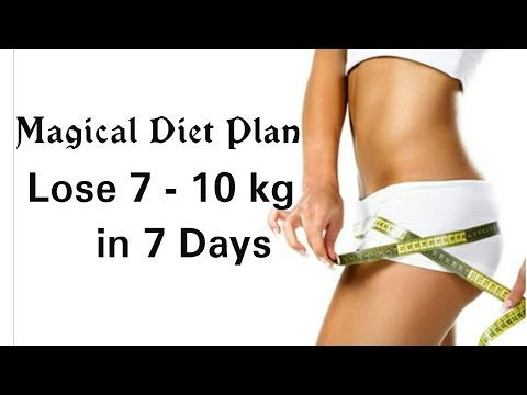 Lose 10 kg in 7 days without exercise | 7 days weight loss challenge