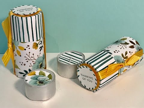 Cylindrical Tea Lights Gift Box - Video Tutorial with Whole Lot of Lovely DSP