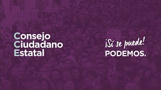Pablo Iglesias en la apertura del Consejo Ciudadano Estatal. 23 de noviembre