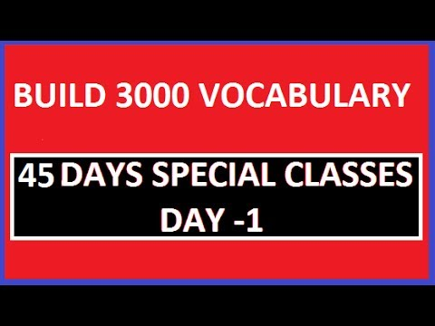 Build your 3000 vocabulary II 45 Days special class II DAY 1
