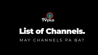 ABS CBN TV Plus Channels List 2018