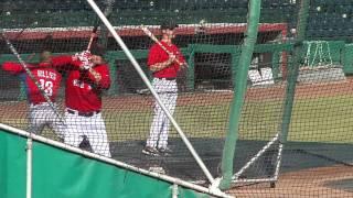 Red Sox Alex Hassan BP at the 2011 Arizona Fall League
