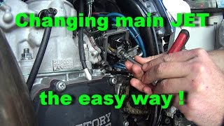 How to change main JET 2 stroke YZ250 without removing carb