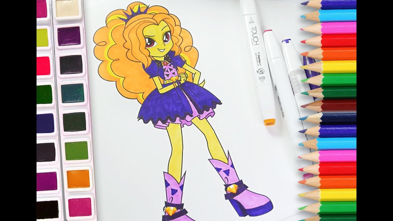 mlp adagio dazzle coloring pages - photo#32