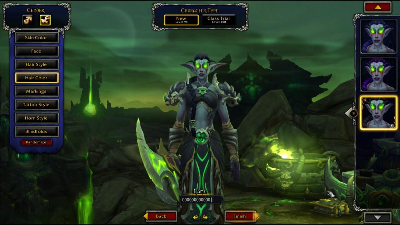 WoW Freakz Legion: Night Elf Demon Hunter Customization