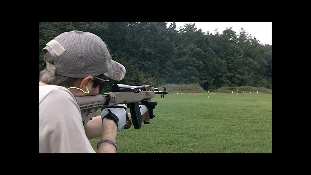 Shooting a Norinco SKS with TAPCO Stock