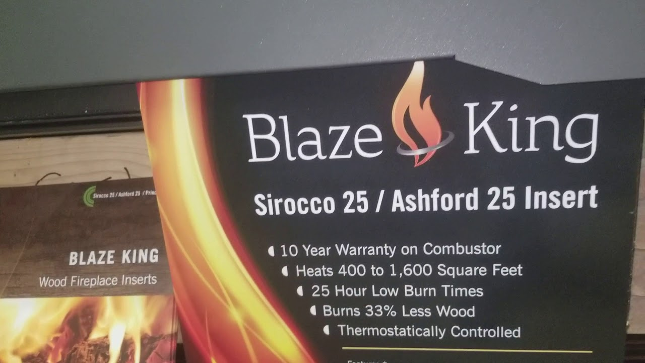 blaze king fireplace inserts. Blaze King Sirocco 25 Wood Burning Fireplace Insert  YouTube