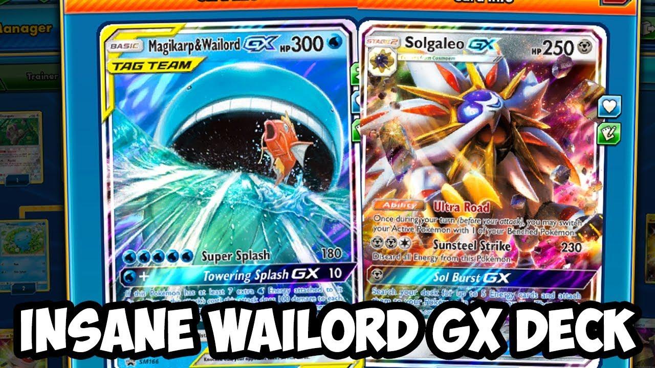 Insane Way to Play Wailord & Magikarp GX! Solgaleo ... Wailord And Quagsire