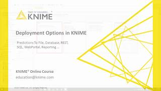 Deployment Options within KNIME