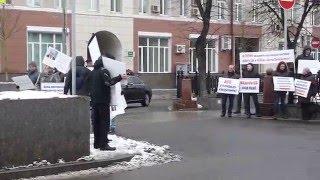 Пикет вкладчиков Внешпромбанка 25.02.2016 г. Москва