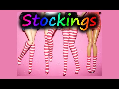 How to make Doll Stockings Tutorial (Overknees, Socks) DIY - YouTube