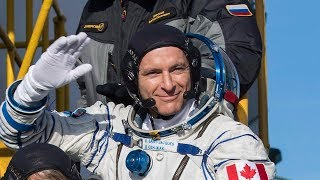 Canadian astronaut David Saint-Jacques speaks from ISS
