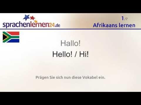Afrikaans lernen (kostenloses Sprachkurs-Video)