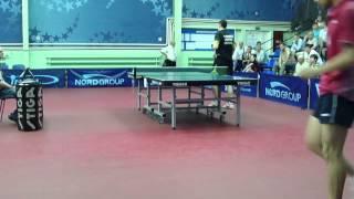 Коу Лей -Дидух А .Настольный теннис. Nord Open 2012.