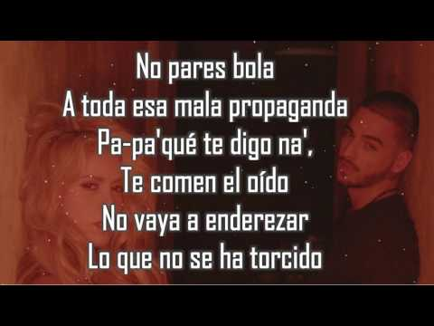 Chantaje LETRA  Shakira Ft Maluma