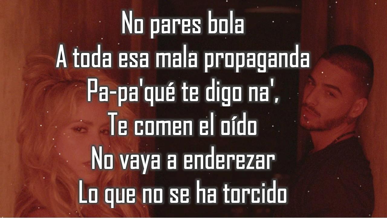 Chantaje Letra Shakira Ft Maluma Youtube