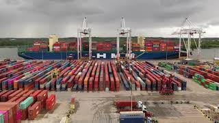 HMM Nuri Arrives at DP World Southampton