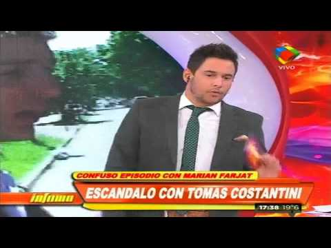 Confuso episodio entre Marian y Tomas Costantini